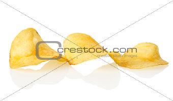 Three potato chips