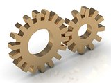 Two gold gears