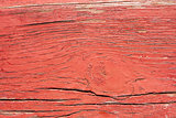 Wooden board painted in red