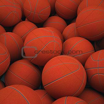 Group basketballs