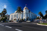 Luxury Hotel Negresco on English Promenade in Nice, French Rivie