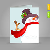 Gift card with funy snowman