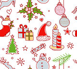 Xmas objects seamless pattern