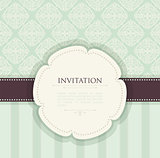 Invitation vintage background