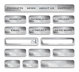 Metallic website design elements