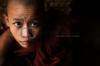 Portrait of little monk