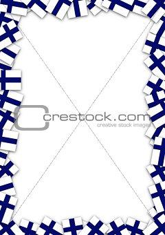 Finland flag frame