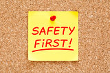 Safety First Sticky Note