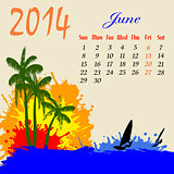 Calendar for 2014 June