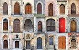 Medieval front doors
