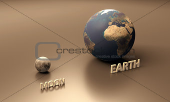 Planet Earth and the Moon