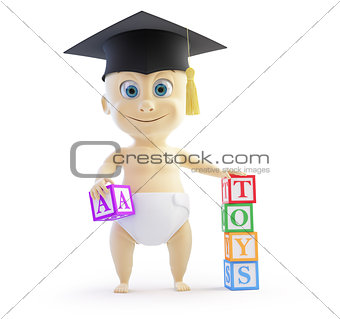 baby preschool graduation cap
