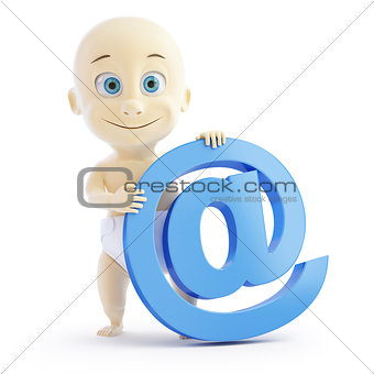 3d baby e mail sign