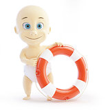 baby lifebuoy on a white background