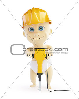 3d baby jackhammer construction helmet