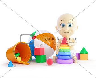 baby toys beach ball, pyramid