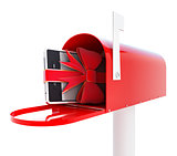 mailbox gift phone 3d Illustrations on a white background