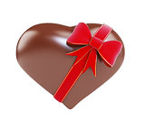 chocolate heart gift on a white background