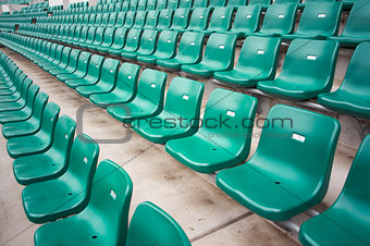 chairs in stadium