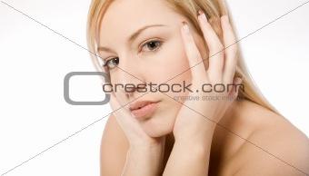 Studio portrait of a welness woman