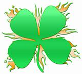 Flaming Shamrock