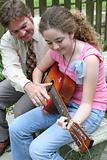 Father Daughter Guitar Lesson
