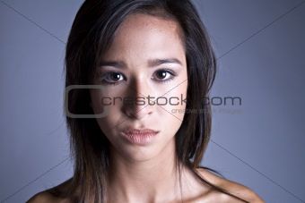 Classical portrait Mixed raced young beauty