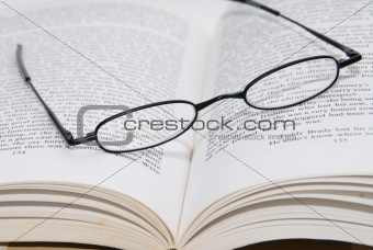 Reading Glasses and Book