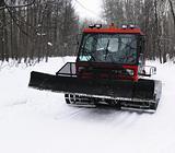 Tractor make ski-track