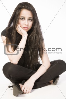 Asian pouting girl