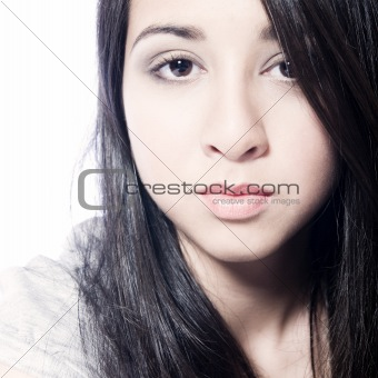 Asian teenager making eye contact