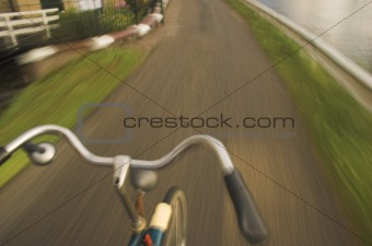 Blurred bicycle abstract