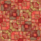 Red tile surface