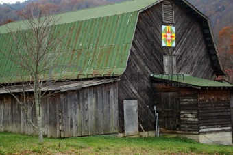 Old Barn With Green Tin Roof