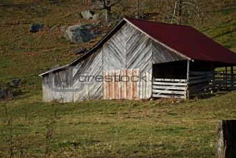 Old Barn in Rocky Pasture