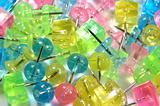 Colorful pushpins background