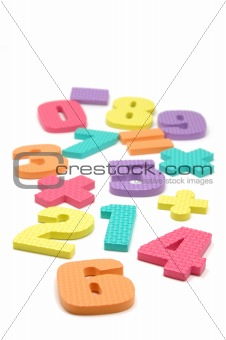 Foam numbers and maths symbols