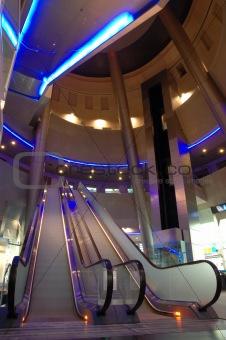 Modern mall interior
