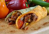 meat and vegetable wrap