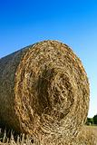 Hay bale closeup