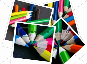 four crayon pictures