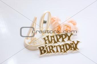 40th female birthday sign