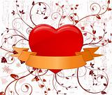 Romantic background, vector illustration