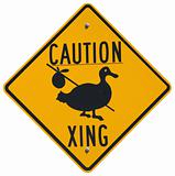 Caution Goose Crossing