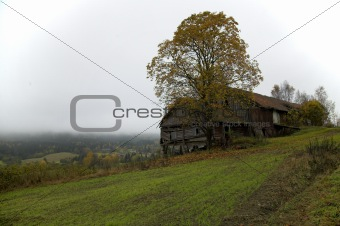 old farm in fall