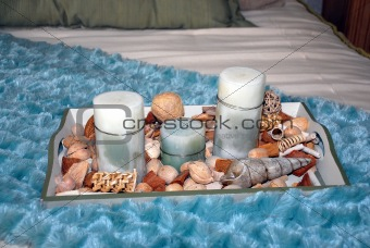 Candles and shells