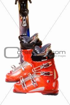Modern mountain ski boots