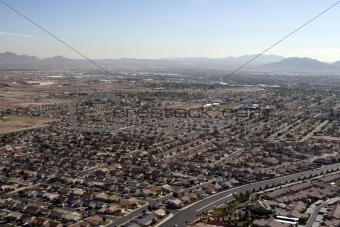 Aerial shot taken in Las Vegas