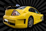 yellow customized car