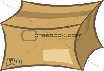 Cardboard shipping box illustration